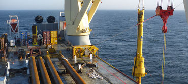 Pile testing campaign for an offshore wind farm in the Baltic Sea, Germany