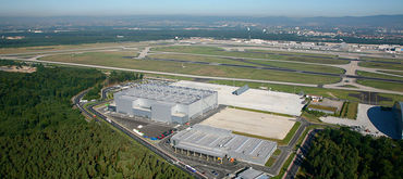 Construction of new A380 docking facilities at Frankfurt Airport, Germany