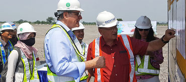 Visit to landfill construction site